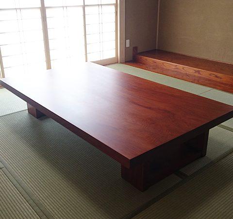 一枚板セコイアスギ座卓テーブル