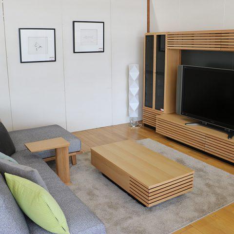 天然木ソファ テレビボード