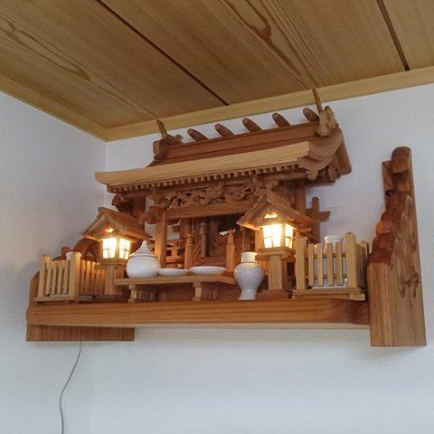 流れ屋根三社 神棚セット