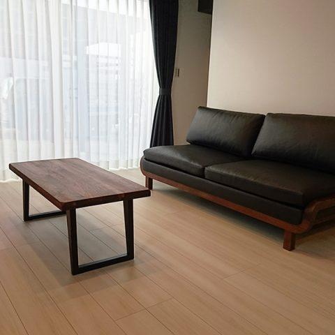 ウォルナットソファ テーブル