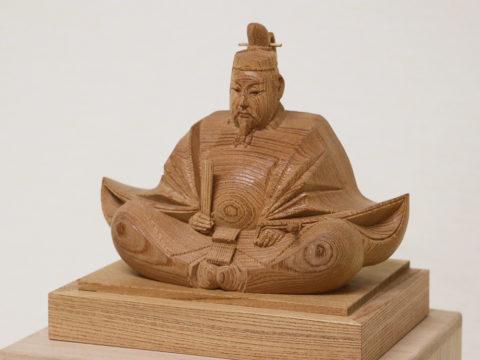 木彫りの天神様 6寸