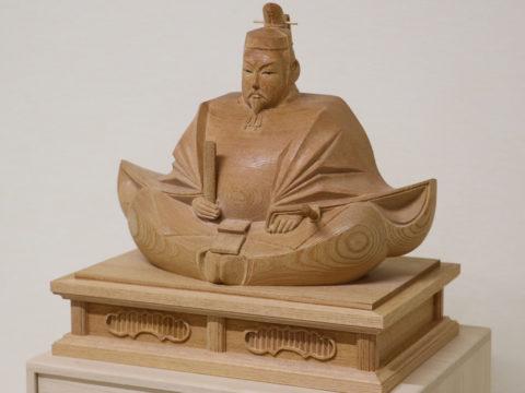 木彫りの天神様 1尺