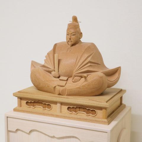 木彫りの天神様 1尺3寸