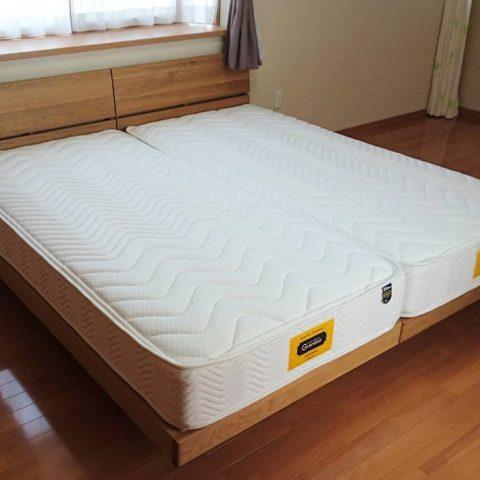 天然木オーク材ベッド