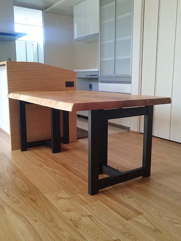 一枚板 栃のダイニングテーブル