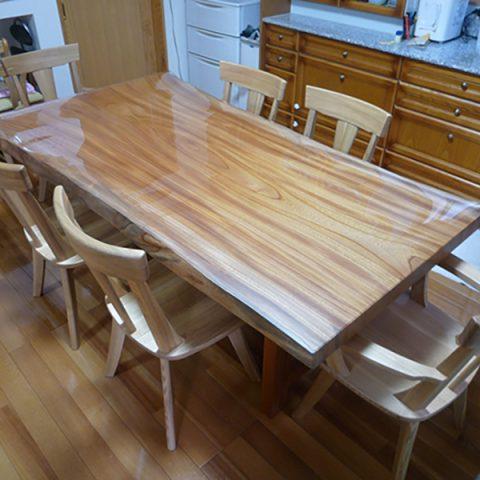 欅 一枚板テーブルセット