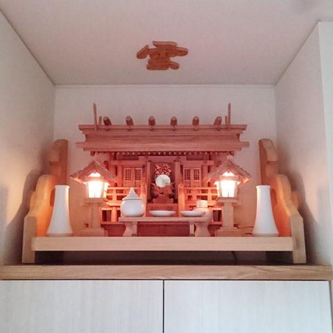 板屋根三社 神棚セット