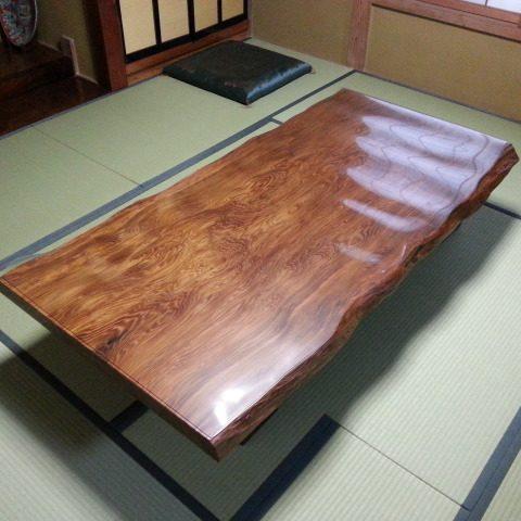 天然木 一枚板 座卓