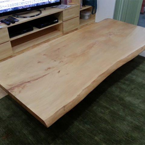 栃 一枚板テーブル 座卓