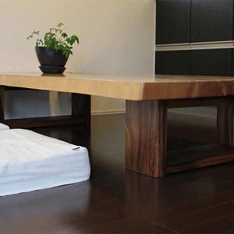 天然木一枚板テーブル 座卓