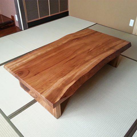 欅の一枚板テーブル 座卓