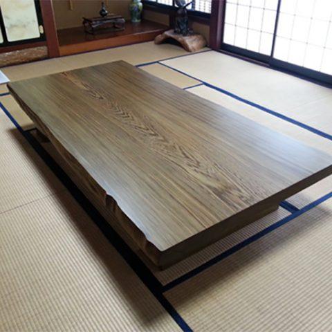 神代杉 一枚板テーブル 座卓