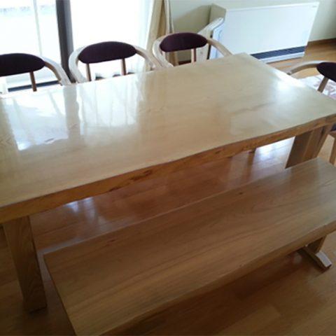 一枚板テーブル チェア ベンチ