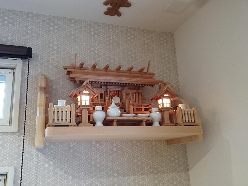 板屋根三社の神棚セット