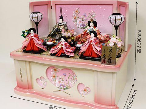 収納五人飾り ひな人形