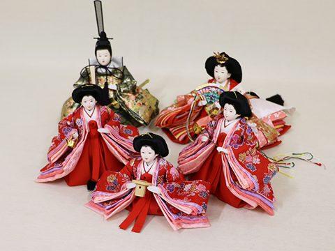 ひな人形 収納五人飾り