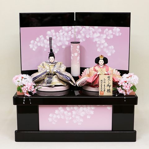 桜の彩 収納親王飾り