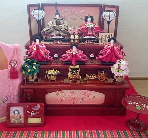 久月 ひな人形 収納飾り