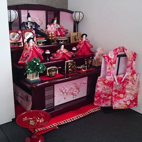 東玉 ひな人形 木製三段飾り