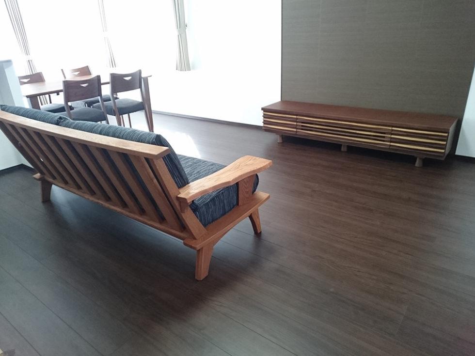 天然木ソファ・テレビボード