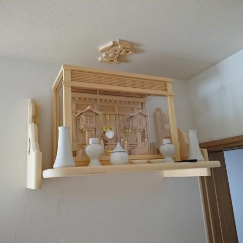 白木 コンパクト神棚セット