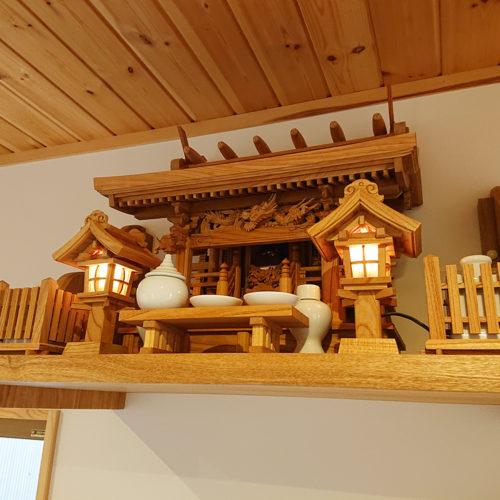 欅の流れ屋根三社 神棚セット