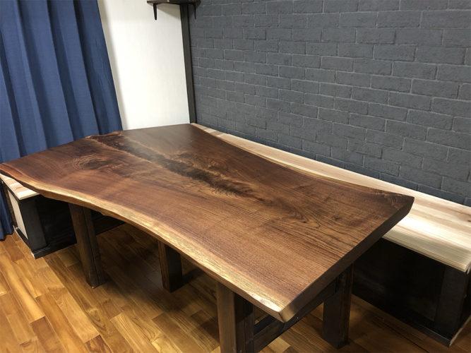 一枚板ウォールナットダイニングテーブル