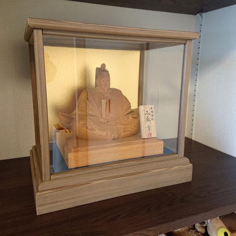 木彫りの天神様