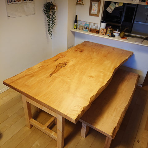 栃ダイニングテーブルセット