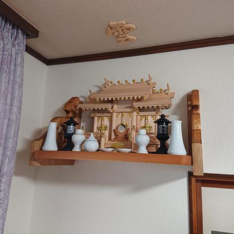 板屋根三社神棚セット
