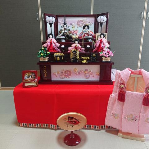 久月 収納三段五人飾り飾り ひな人形