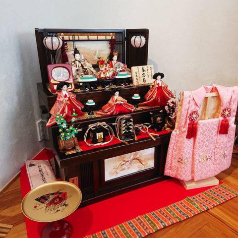 吉徳 ひな人形 収納三段五人飾り