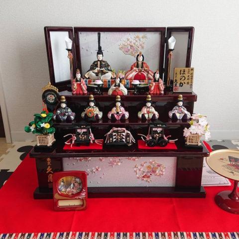 久月 木目込み人形 収納飾り