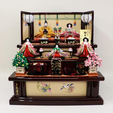 ひな人形 ワダエミ監修 木製三段五人飾り