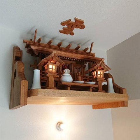 神棚 板屋根三社セット