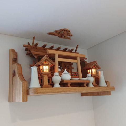 神棚セット 板屋根三社 欅