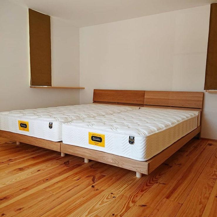 天然木オーク材 ベッド