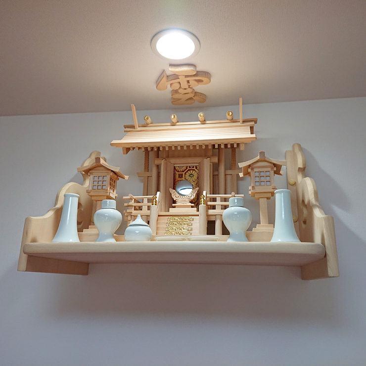 白木コンパクト神棚セット