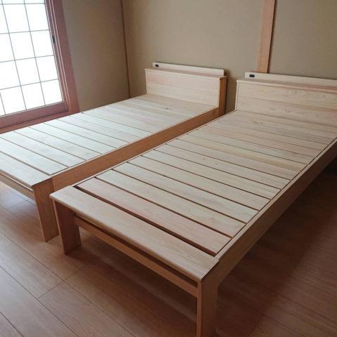 天然木桧ベッド
