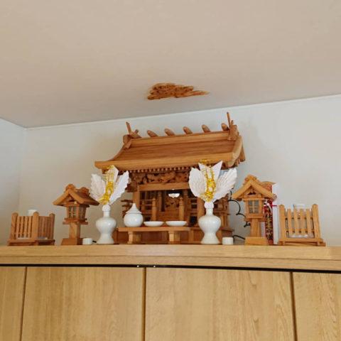 欅流れ屋根三社神棚