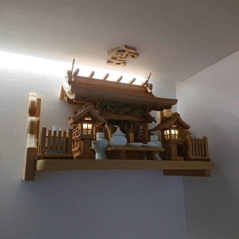 欅 流れ屋根三社 神棚セット