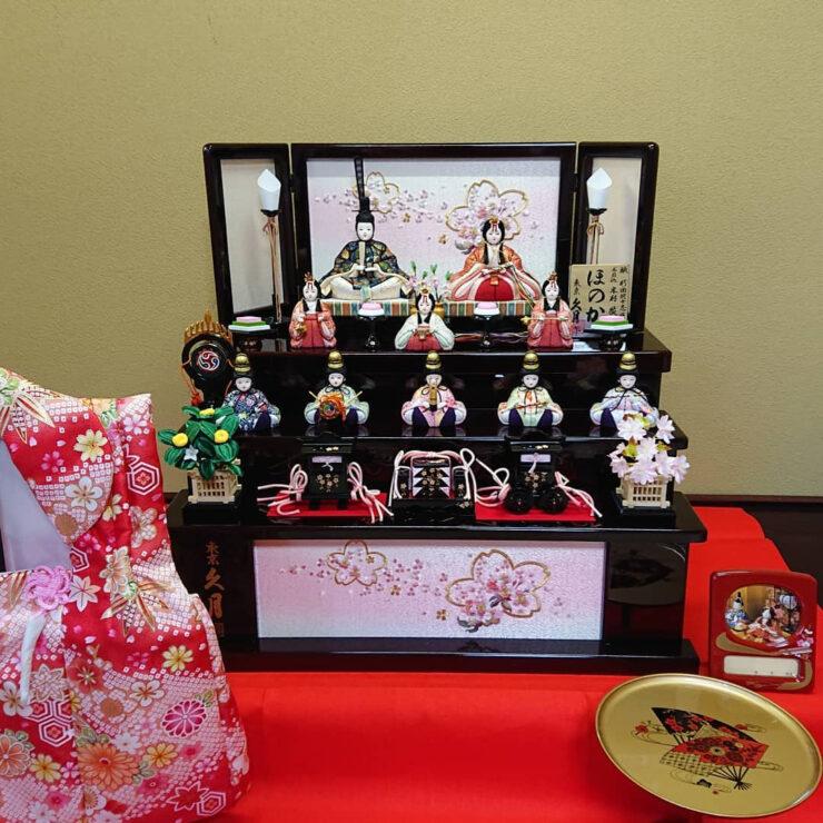 久月 収納十人飾り 木目込み人形