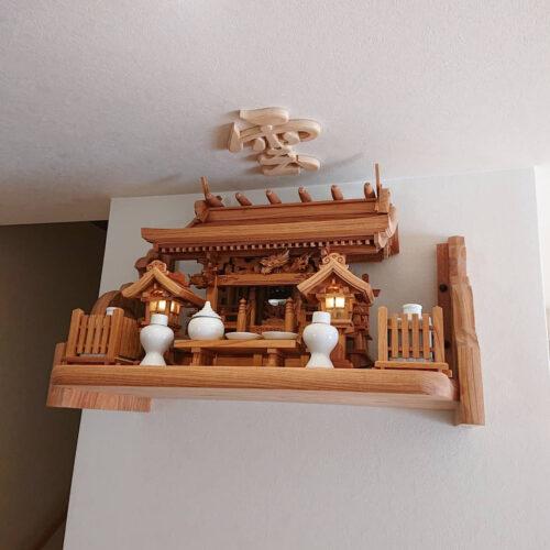 総欅流れ屋根三社 神棚セット