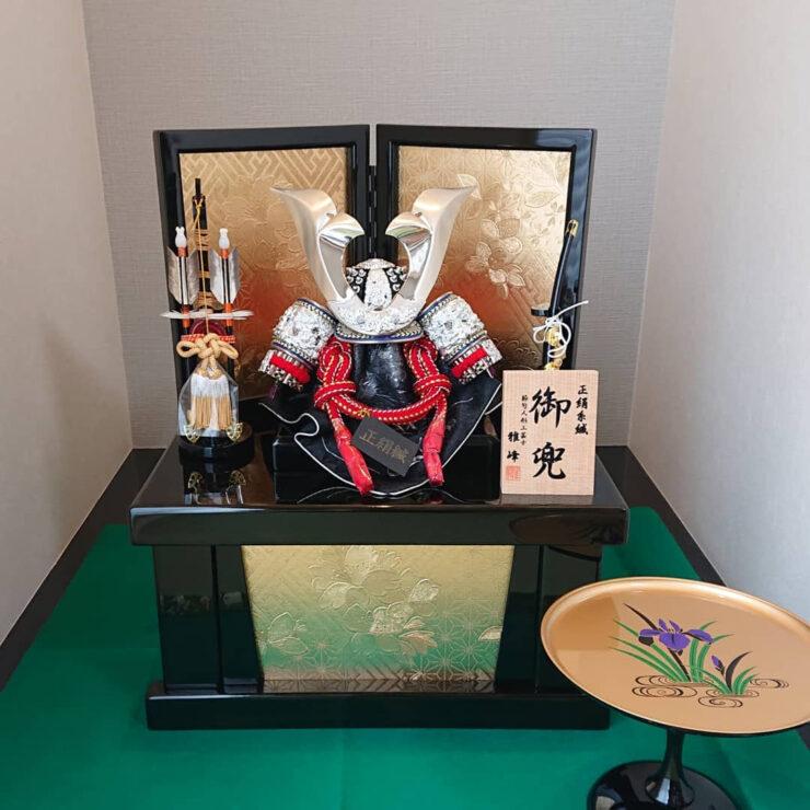 五月人形 フジキ工芸産業 コンパクト収納兜飾り