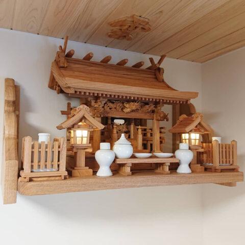 流れ屋根三社神棚セット