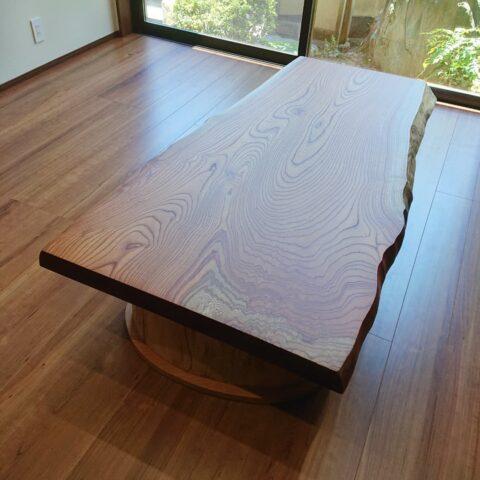 座卓 一枚板 欅 リビングテーブル